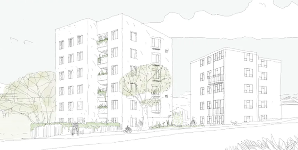 23 flats were proposed for King Henry's Drive / Gascgoine Road