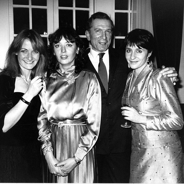 Emma went on to marry Nigel Dempster after they met at the wedding of a friend in 1970 (pictured far right, Emma and Nigel)