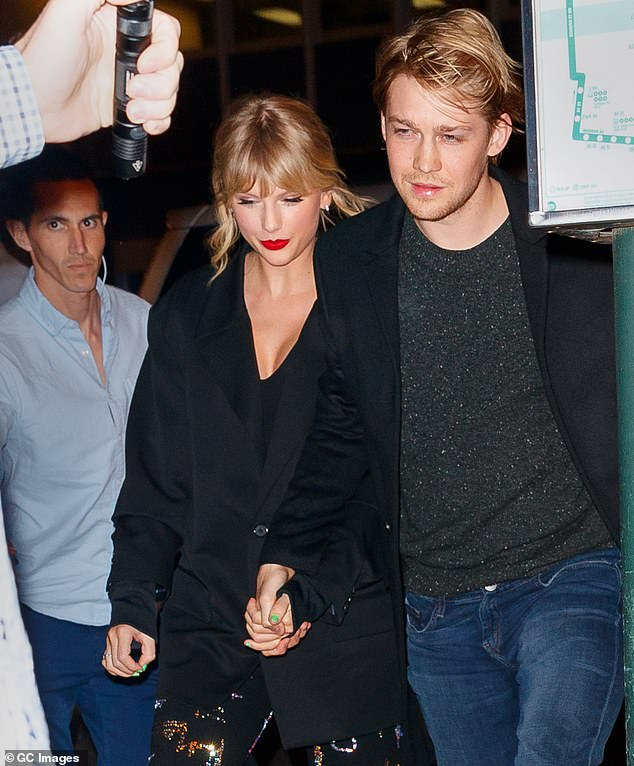 Big step:Taylor Swift and her beau of four years Joe Alwyn are reportedly renting a £5.5million home in London together (pictured in 2019)