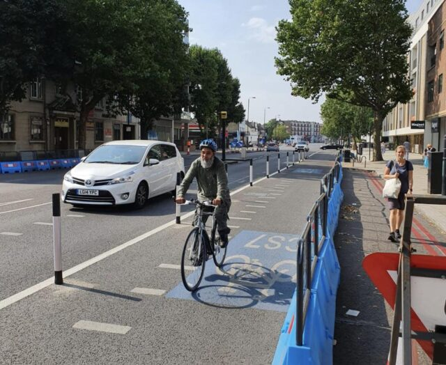 TfL Image -The previously completed upgrade of the CS7 route in Balham