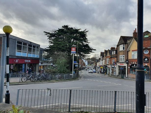 View of Harpenden from the station