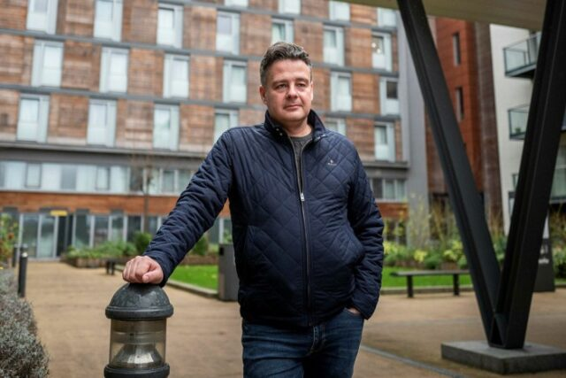 Airport worker Adrian Gill, who bought his flat at the High Point Village development in west London in 2012, said: 'You are not a homeowner, you are little more than an inmate'