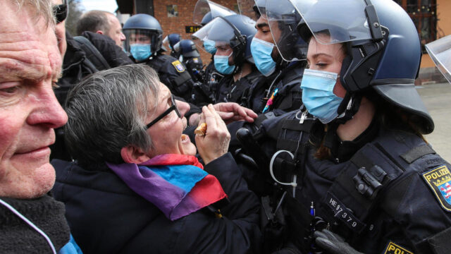Anti-lockdown protests erupt across Europe as tempers fray over tightening restrictions